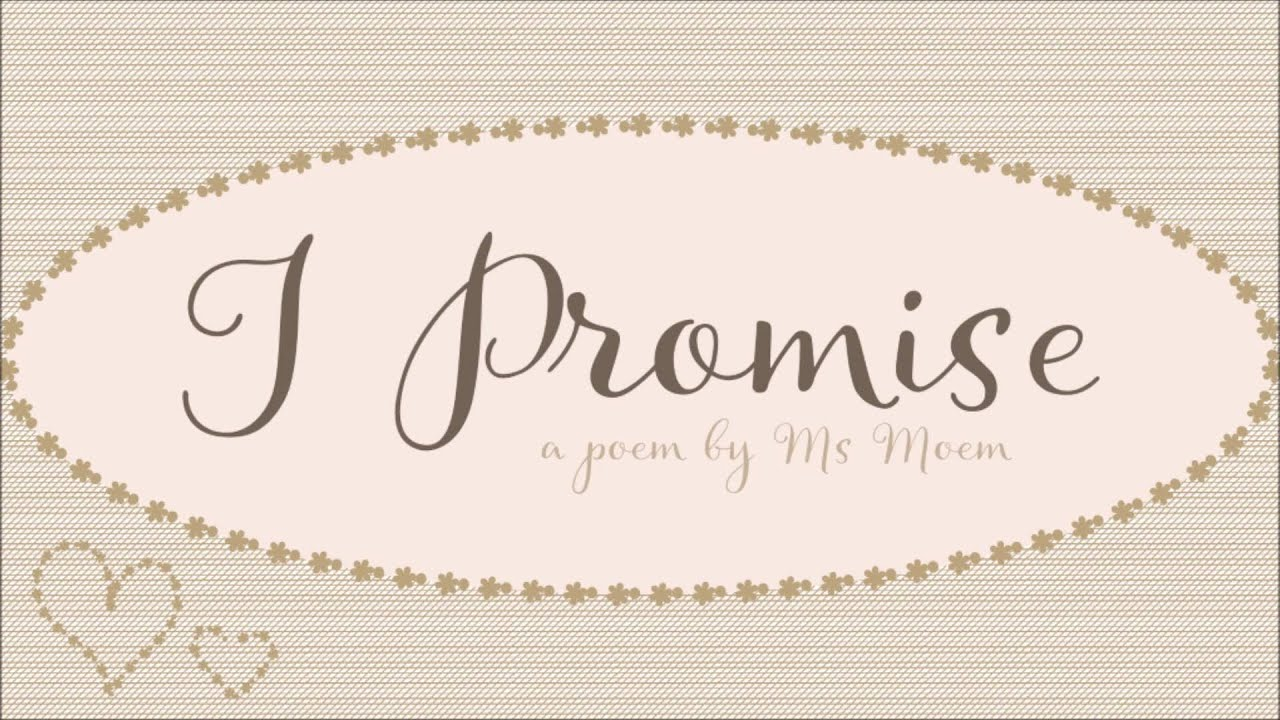 I Promise Wedding Poem