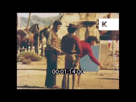 1960s, 1970s Spain, Behind the Scenes on Western Film Set
