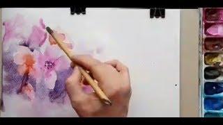 Цветы акварелью  Подарочный урок от Марьяны Брюхановой