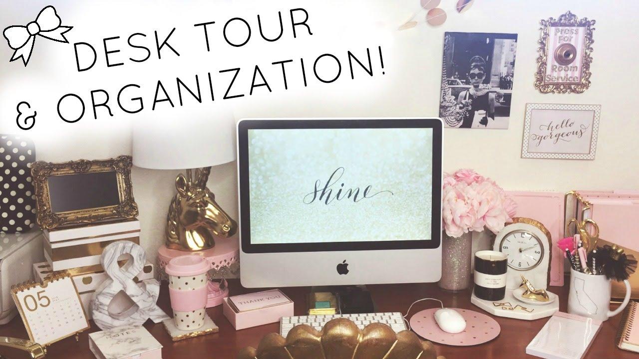 Desk Tour Organization 2016 Homegoods Tj Ma Marshalls Kate Spade Target Daiso You