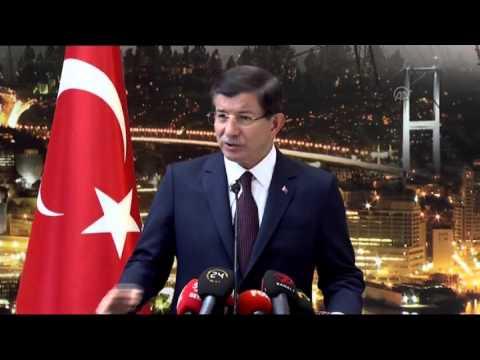 Press Conference of Turkish PM Ahmet Davutoglu in Ankara