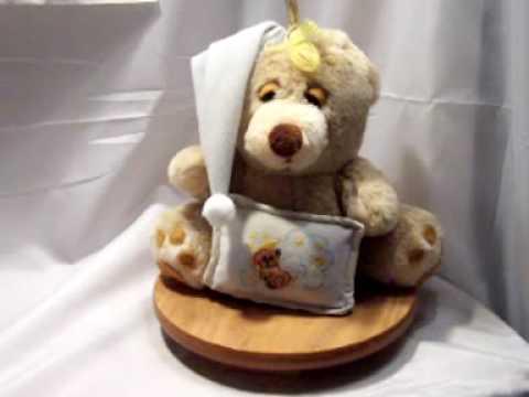 Sleepy Teddy Bear Nursery Lamp, Music Box