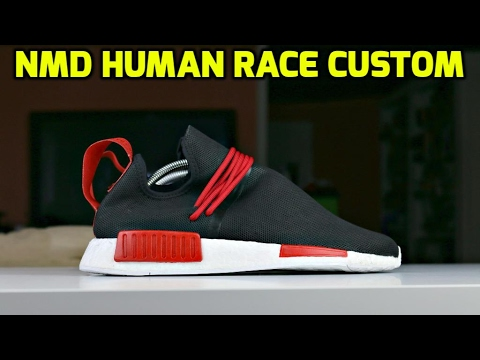 CUSTOM NMD HUMAN RACE TRANSFORMATION!!!