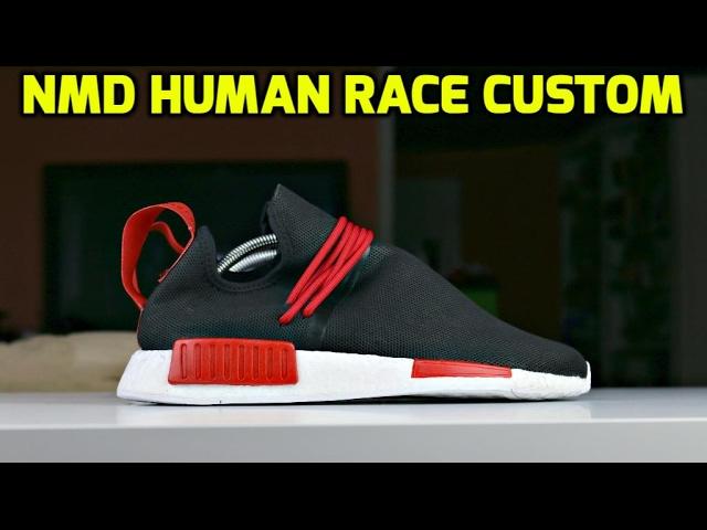 CUSTOM NMD HUMAN RACE TRANSFORMATION
