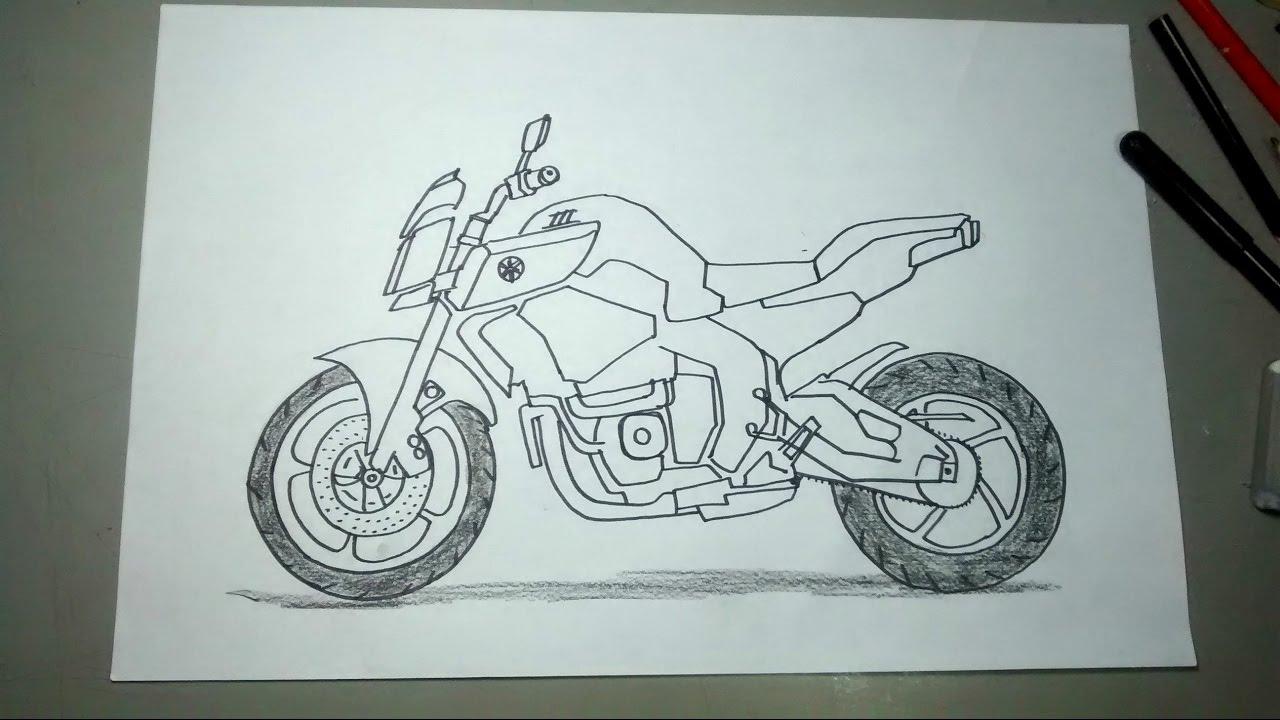 Aprende A Dibujar Motos Paso A Paso Yamaha Fz10 Youtube