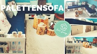 Sofa aus Paletten | Palettensofa | Europaletten | selber bauen | DIY | Upcycling | Paletten Sofa