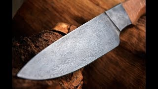 Easy Making Integral Damascus Knife