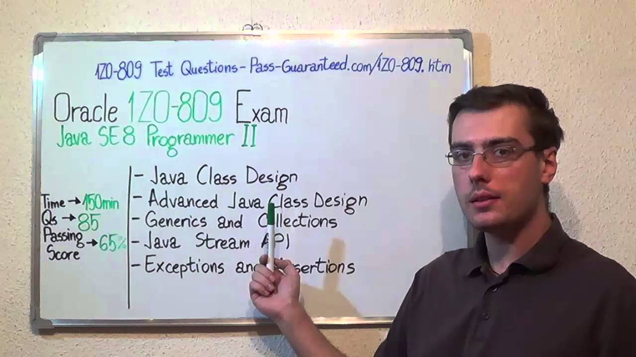 1z0 809 java exam se 8 test programmer ii questions youtube 1betcityfo Image collections
