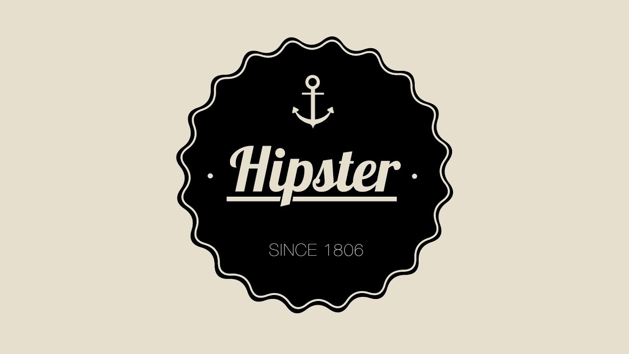Design A Hipster Badge In Photoshop - YouTube