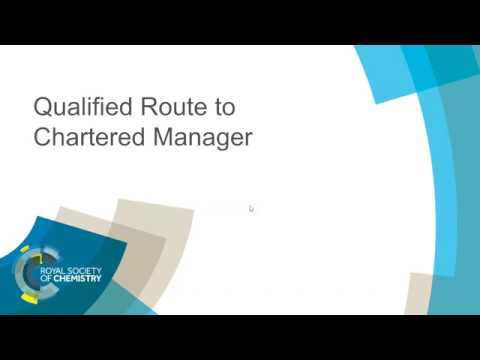 ChemCareers 2018 Qualified Route to Chartered Manager