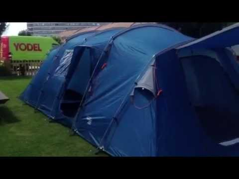 & Regatta 8 man tunnel tent - YouTube
