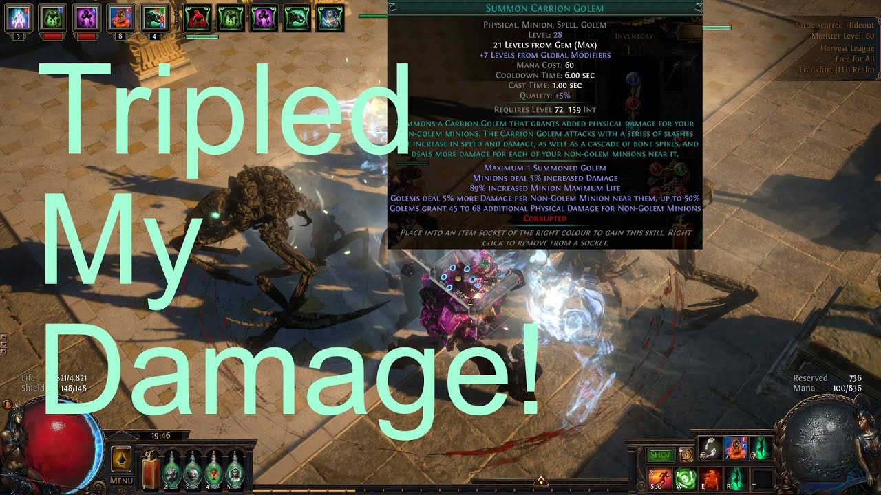 Poe 3 11 Afk Blighted Map T7 While Talking About Carrion Golem