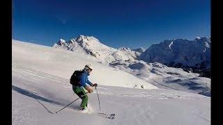 Snow Skiing - Deep snow skiing,  skiing powder basic technique tips