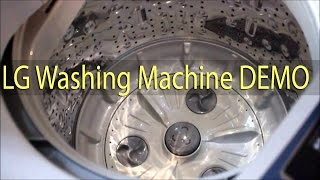 LG WASHING MACHINE - TOP LOAD 6.2 Kg - Video Demo