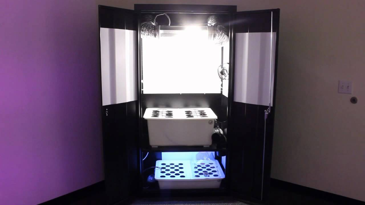 Hydroponic Grow Cabinet Hydroponic Grow Cabinet Growing Rooms By Supercloset Youtube