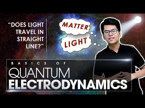 Basics of Quantum Electrodynamics (QED) - Light and Matter (Breakthrough Junior Challenge 2017)
