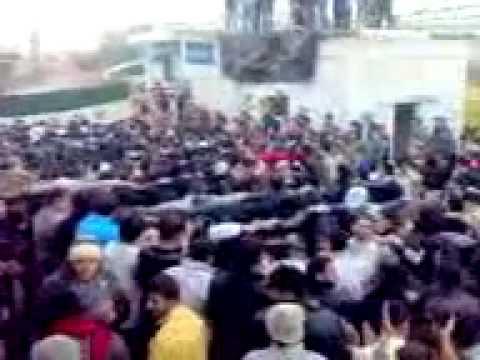 شام درعا الكتيبة مظاهرة جمعة دعم الجيش السوري الحر 13 1 2012