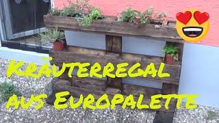 DIY Kräuterregal aus Europalette Vintage Style