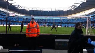 Mario Balotelli takes out my Camera warming up