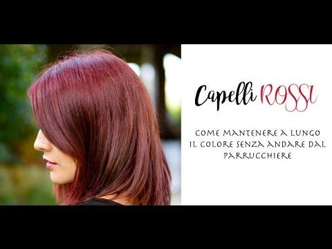 Come mantenere il colore dei capelli rossi