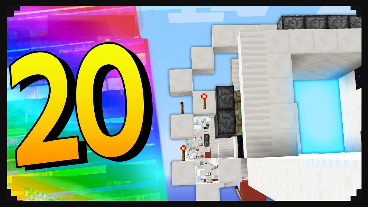 Minecraft 20 Creative Redstone Doors In Minecraft 19 Youtube