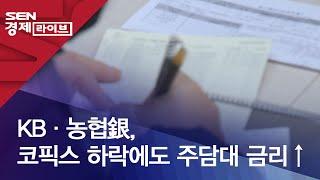 KB·농협銀, 코픽스 하락에도 주담대 금리↑