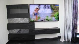 Подвесная стенка под тв на заказ Киев код: 8224. Мебель стенка, гостиная. Дизайнерская мебель.(, 2015-08-11T17:09:14.000Z)