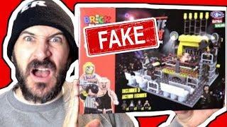 FAKE WWE LEGO ARENA PLAYSET REVIEW
