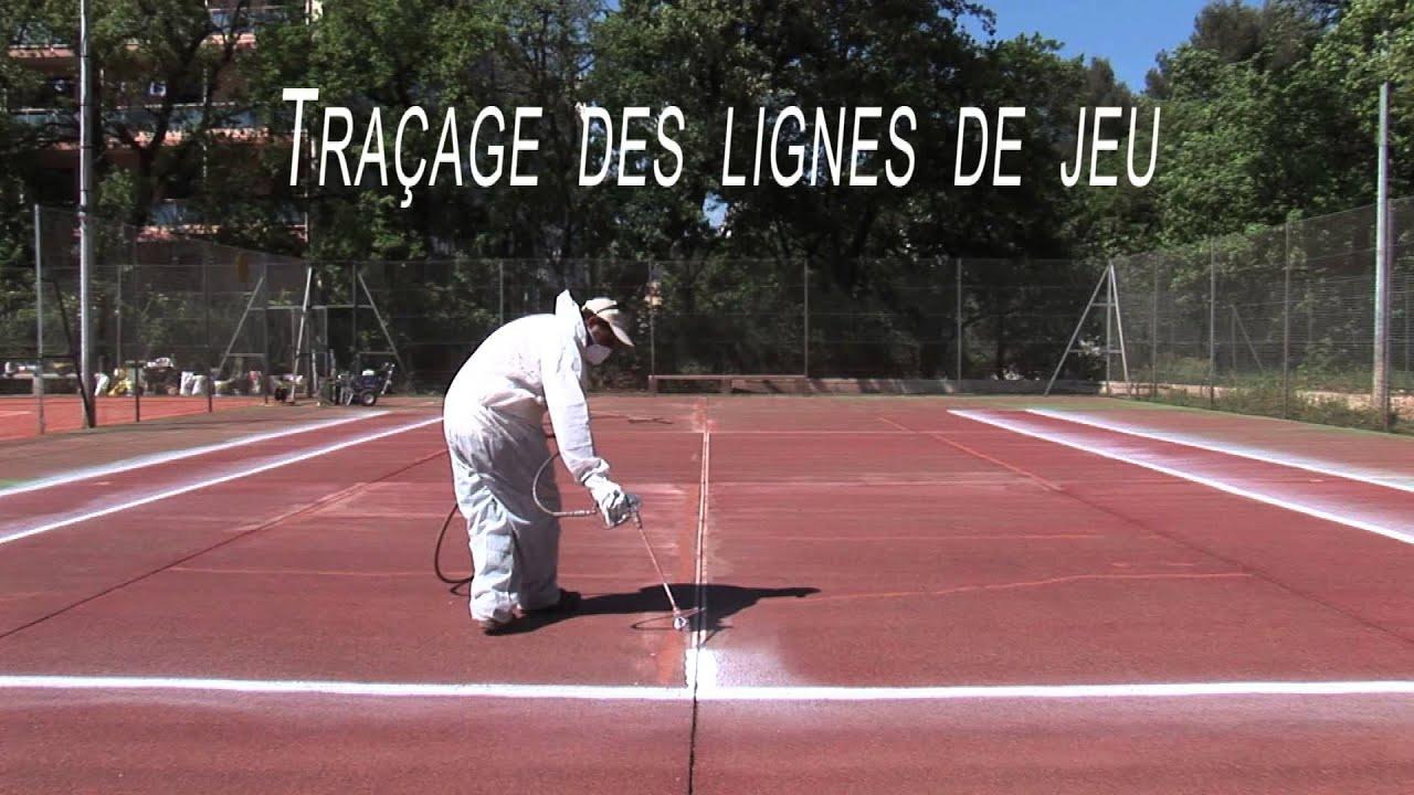 Sol Terrain De Basket traçage des lignes de jeu (tennis, volley, basket, handball)