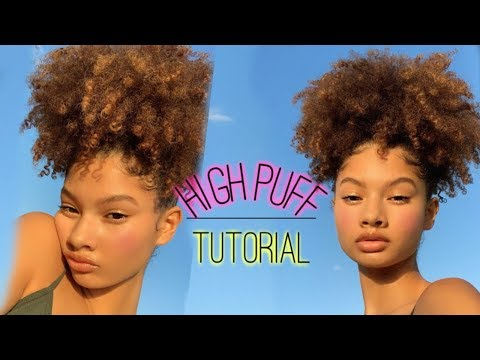 HOW TO: HIGH AFRO PUFF | Hannah Mussette