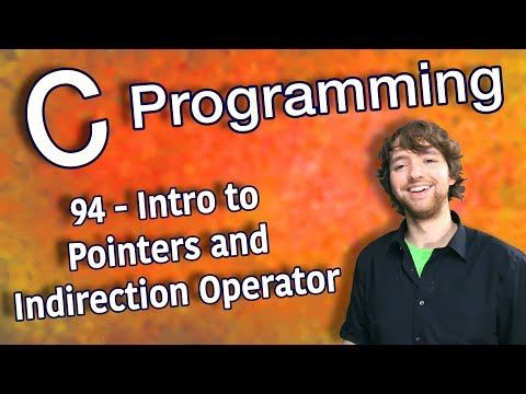 C Programming Tutorial 94 - Intro to Pointers and Indirection Operator thumbnail