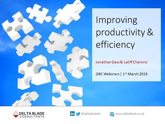 Webinar 01: Improving productivity and efficiency using lean management