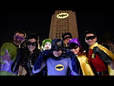 Bright Knight: Bat-Signal shines over LA in honour of Adam West