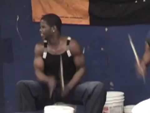 More of amazing street drummer Larry Wright in New York subway.