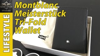 Montblanc Meisterstück Soft Grain Leather Tri-Fold Wallet Review • Luxury Lifestyle Channel