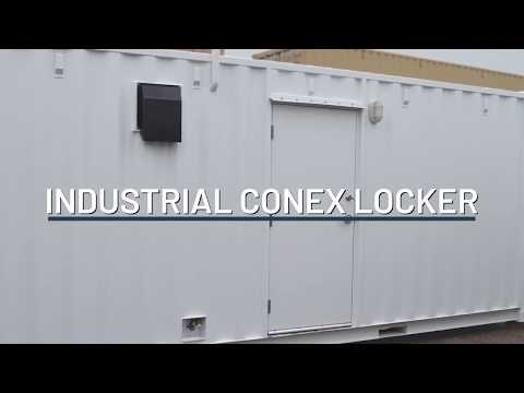 All Metal Locker Room in a Shipping Container