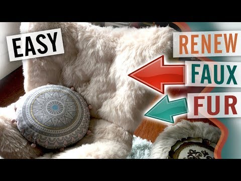 How to Deep Clean and Fix Faux Fur Chairs, Pillows, and Plush Toys - DIY