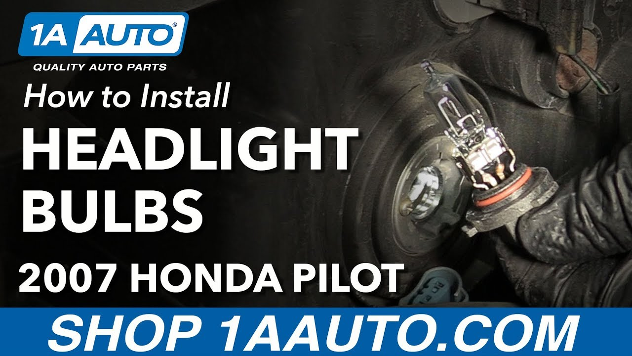 how to change replace headlight bulbs 2007 honda pilot [ 1280 x 720 Pixel ]