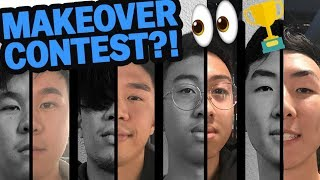 CRAZY MAKEOVER CONTEST! (Eyebrows, Hair, Clothes!) | Fung Bros