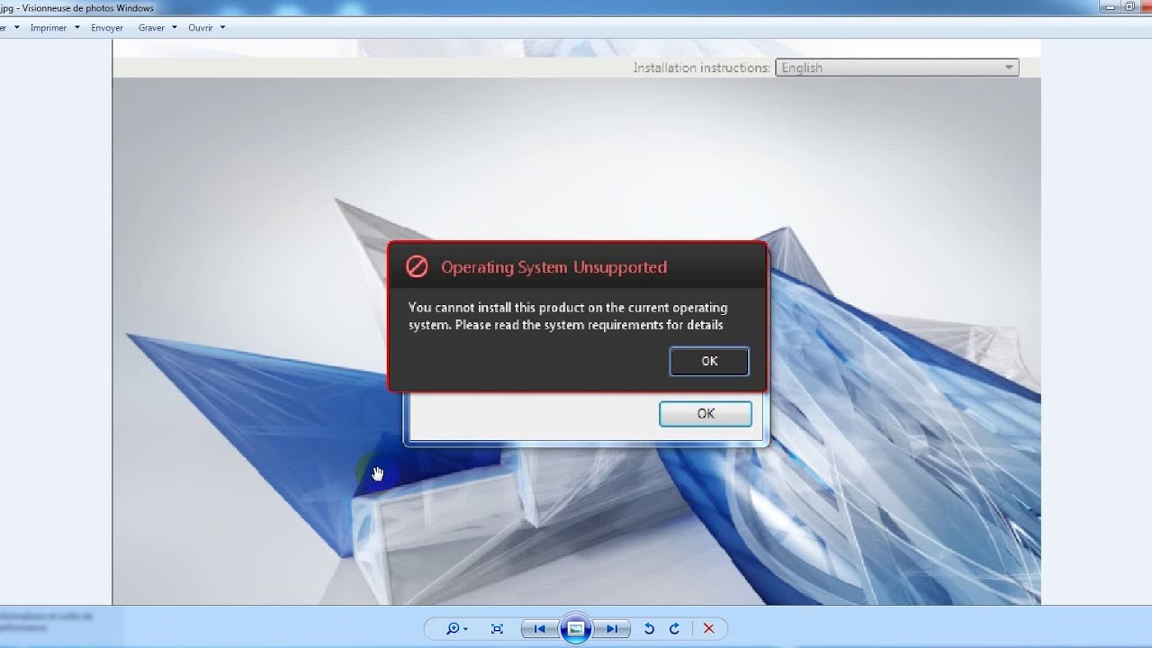 you cannot install this product on the current operating system revit2017  مشكلة