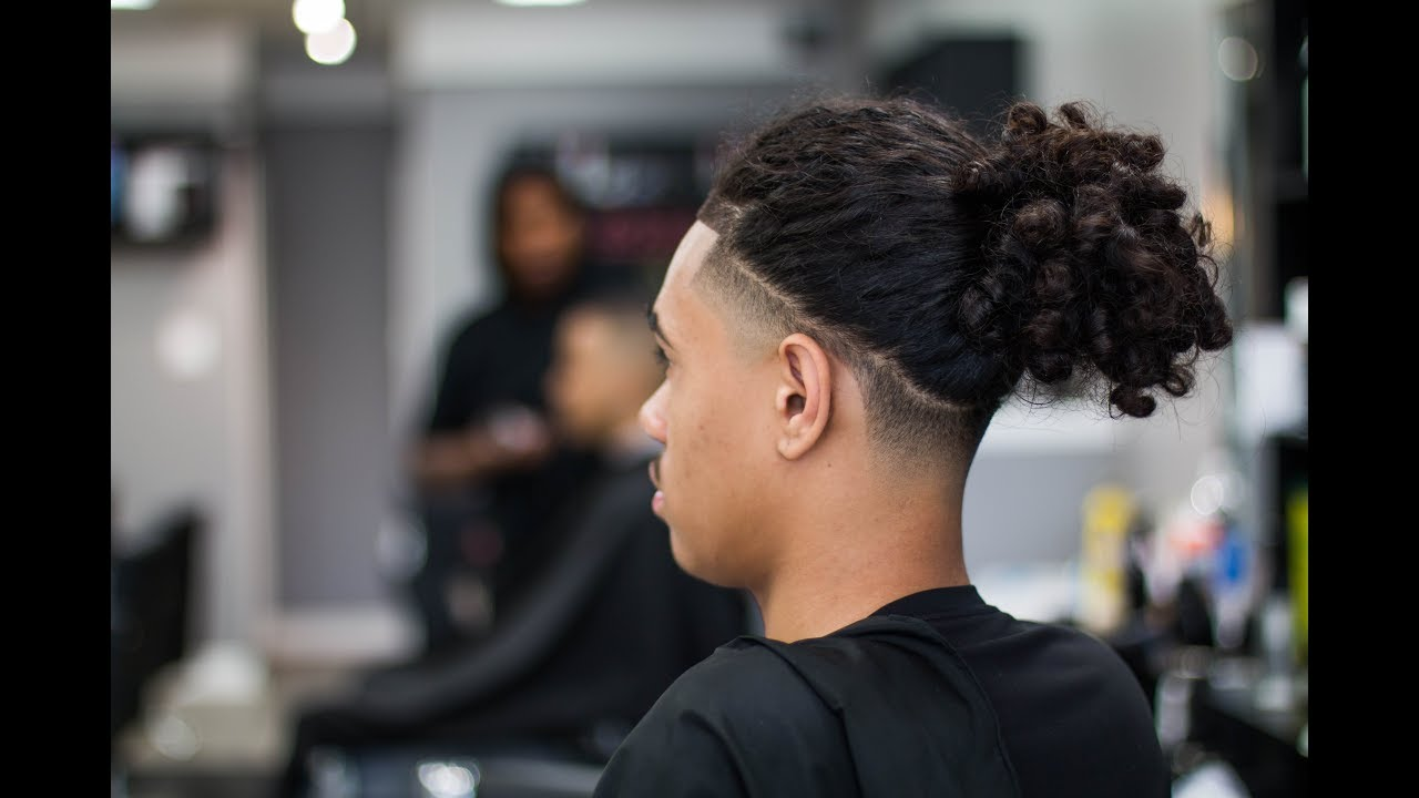 bald taper with long hair braids