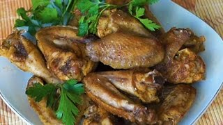 Вкусные видео рецепты - копченые куриные крылышки  в мультиварке