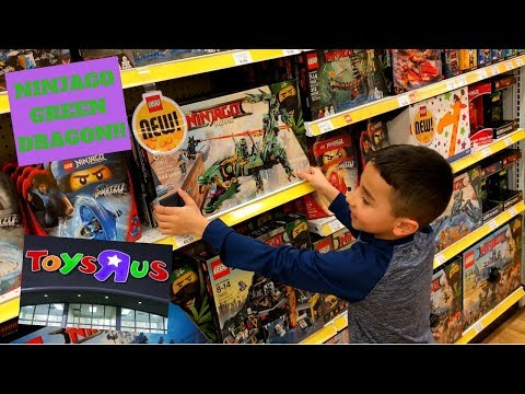 Lego Ninjago Green Dragon Shopping At Toys R Us!!