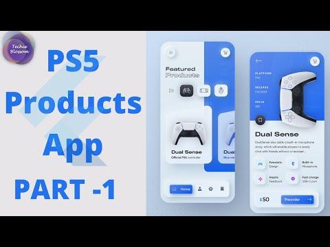 PS5 Products App   Flutter UI