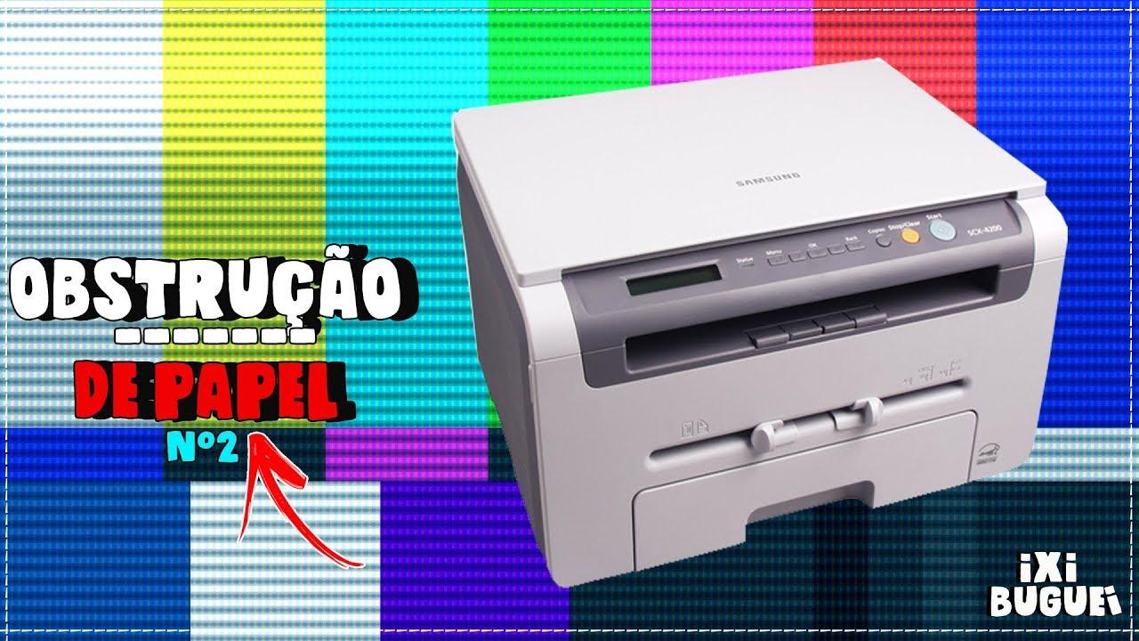Problema Na Samsung Scx 4200 Obstrucao De Papel N 2 Youtube
