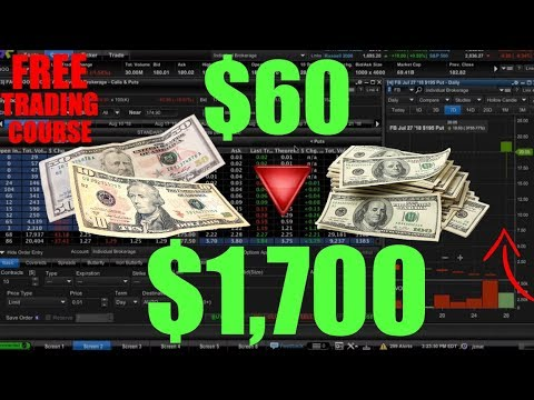$60 Into $1700 Trading Facebook Earnings – FREE STOCK MARKET COURSE