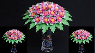 WOW !!! DIY Paper Flowers Craft || Beautiful Flower Making || Unskill Talent
