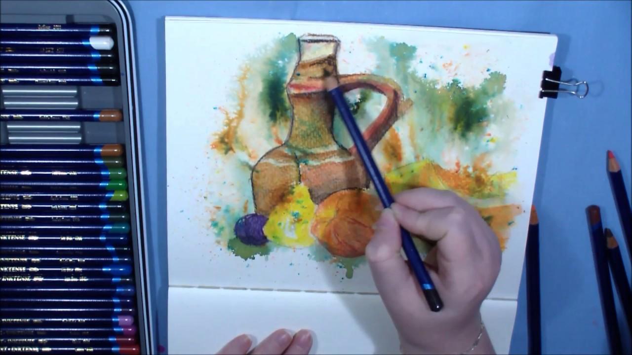 Akvarelove Pastelky Zatisi Youtube