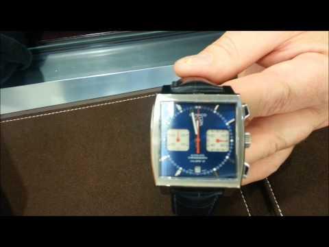 """TAG Heuer Monaco -- Chronograph - $6,300.00 - """"Steve Mcqueen"""" Automatic - Calibre 12 Alligator Strap"""