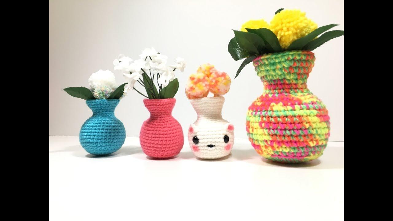 Amigurumi Flower Tutorial : How to crochet a vase kawaii crochet amigurumi diy tutorial